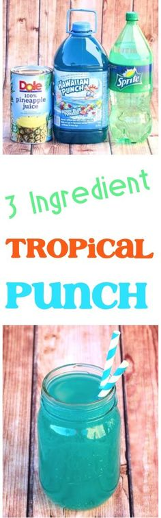 Tropical Party Punch Recipes!  Get ready for summer with this refreshing Hawaiian beverage!