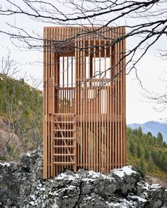 Orma Architettura designs trio of Corsican Deer Observatories Kids Cubby Houses, Play Houses, Innovative Architecture, Interior Architecture, Woodland House, Pallet House, Garden Buildings, Garden Office, Backyard Landscaping