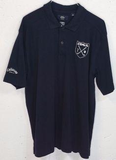 Callaway Golf X Series G-Tech JDGA Mens Navy Blue Short Sleeve Polo Shirt XL #Callaway #PoloRugby