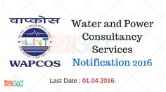 Water and Power Consultancy Services Notification 2016