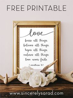 1 Corinthians 13:7 FREE Printable