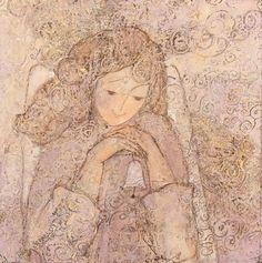 Купить Авторская картина Рождественский колокольчик пора чудес и волшебства - ангел, колокольчик, подарок на новый год