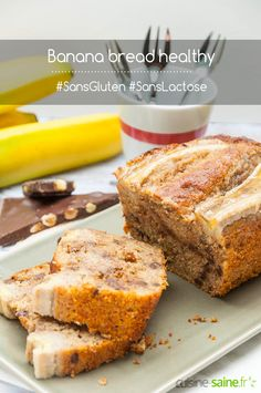 Banana bread sans gluten ni lactose healthy via @karenchevallier Sans Gluten Ni Lactose, Healthy Banana Bread, Gluten Free, Desserts, Food, Lactose Free Recipes, Gluten Free Flour, Banana Bread, Oven Cooking