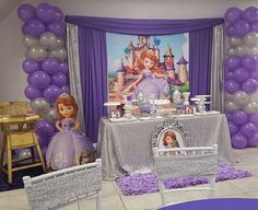 Princesa sofia Princess Sofia Birthday, Sofia The First Birthday Party, Second Birthday Ideas, 4th Birthday Parties, Princess Party, Birthday Party Decorations, Bday Girl, Marie, Party Ideas