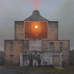 Superb Paintings of Sunsets and Water Inserted in Lost Places