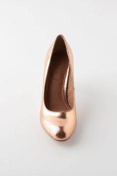 Crackled Copper Heels - anthro !!!