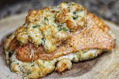 Crab Shrimp Stuffed Salmon – Cup of Consuella Crab Stuffed Salmon, Salmon And Shrimp, Fish And Seafood, Stuffed Fish, Baked Salmon Recipes, Shrimp Recipes, Fish Recipes, Recipies, Mini Desserts