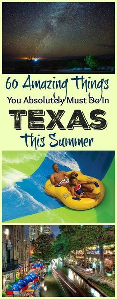 Travel from the piney forests of East Texas to the mountain deserts of West Texas and you'll pass cities and towns large and small that are full of an infinite number of things to see and do. Read on to see our list of 60 amazing things you've absolutely Texas Vacations, Texas Roadtrip, Texas Travel, Vacation Trips, Travel Usa, Vacation Ideas, Family Vacations, Vacation Rentals, Vacation Destinations