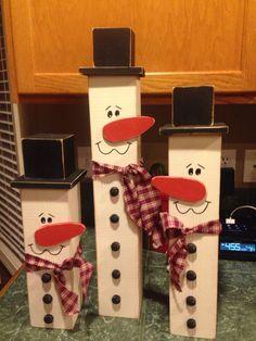 Christmas 4x4 snowmen