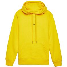 © Helmut Lang Taxi Hoodie (2.816.310 IDR) ❤ liked on Polyvore featuring tops, hoodies, yellow hooded sweatshirt, cotton hoodie, hooded pullover, yellow hoodies and helmut lang