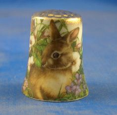 Gold Top Thimble Rabbit | eBay