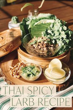 Thai Spicy Larb Recipe Larb Recipe, Chili Garlic Sauce, Thai Dishes, Green Cabbage, Food Words, Best Dishes, World Recipes, Fresh Lime Juice, Side Recipes