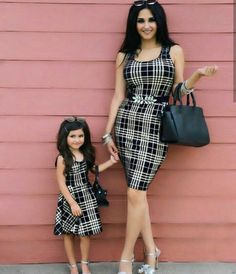 Cute Mother Daughter Fashion, Mother Daughter Matching Outfits, To My Daughter, Mother Daughter Photos, Mommy And Me Outfits, Family Outfits, Outfits Niños, Mother And Child, Daughters