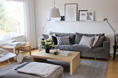 Living room / Black / white / grey