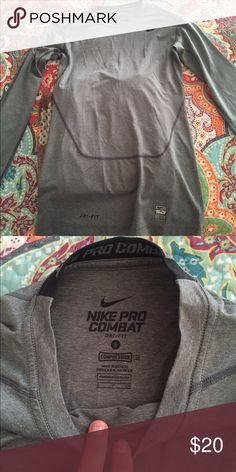 Nike compression shirt Nike compression spandex shirt! PRICES ARE FLEXIBLE :) Nike Tops Tees - Long Sleeve