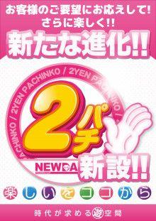 新設2円パチンコ登場!新台入替ですよ♫ ニューダイヤ竜王店 のブログ
