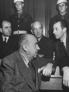 Funk, Speer, von Neurath y Hans Fritzsche en Nuremberg