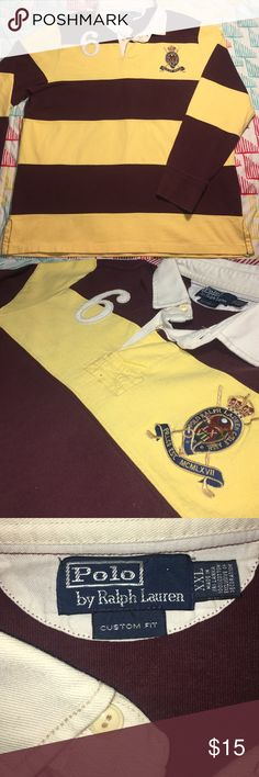 Ralph Lauren Polo Stitched Badge Rugby Style Shirt Size XXL- Condition 9.5/10 Polo by Ralph Lauren Shirts Polos