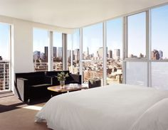 Most incredible view I've ever had in a hotel stay - Hotel Rivington, NYC. Megen and I stayed here and it was amazing!!!