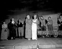 May Joan Crawford delivering Anne Bancroft's Oscar on the stage set of 'Mother Courage. Mother Courage, Anne Bancroft, New York Daily News, Stage Set, Joan Crawford, New York City, Broadway, Memories, Google Search
