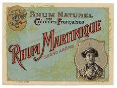 Etiquette Rhum Naturel DES Colonies Françaises Rhum Martinique Grand Arôme | eBay