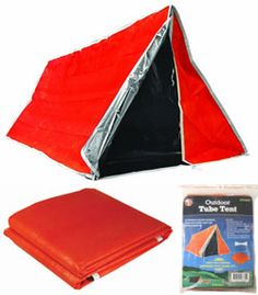 EMERGENCY TUBE TENT (I have a weird thing for survival gear)