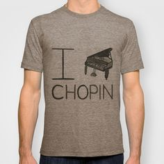 Chopin T-shirt by Normandie Illustration - $22.00