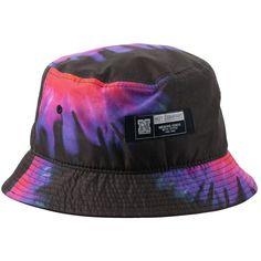 Neff Tie Dye Bucket Hat ($15) ❤ liked on Polyvore featuring accessories, hats, fisherman hat, neff, bucket hat, tie dye hat and fishing hat