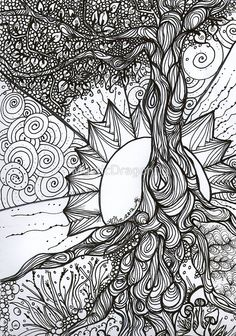 Tree of Life Zentangle by MysticDragonfly