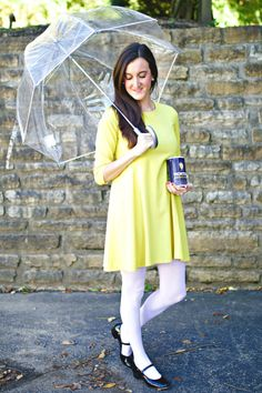 Need an easy, last-minute Halloween costume idea? Try this DIY Morton Salt Girl Halloween Costume!