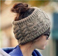 2017 nueva moda trenzada hecha a mano de tejer lana de invierno sombrero elástico hairbands accesorios para el cabello diadema(China (Mainland))
