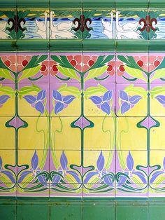 Art nouveau tiles
