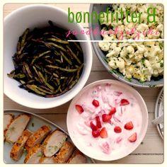 Bønnefritter og jordbærtzatziki