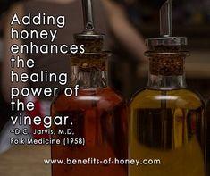 power of honey in cider vinegar image