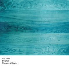 Aquarius wood stain by Sherwin-Williams by Jennifer Ott Interior Design