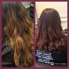 Before and after. Ombré shading with restyle. Autumn inspiration