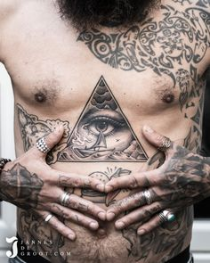 Realistic Black & Grey Tattoo, All Seeing Eye, Boat in the Storm - By: Jannesdegroot. All Seeing Eye, Black And Grey Tattoos, Follower, Photo And Video, 3, Instagram, Black And Gray Tattoos