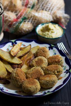 fish and chips tofu vegan