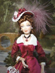 Giselle Sullivan - porcelain woman; Stephanie Melotti - clothing