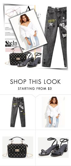 """""""white and black"""" by gina-m ❤ liked on Polyvore featuring WithChic, contest, fashionset, blinddate and shein"""