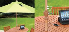 Excellent idea : Parasol offers solar charging for mobile devices