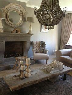 couchtisch massivholz rustikale einrichtungsideen fürs wohnzimmer