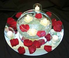 10th Wedding Anniversary Decor Ideas | red wedding table decorations ideas