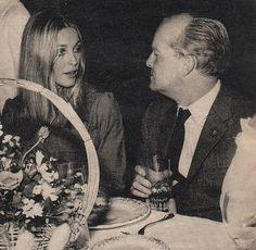 Sharon Tate and Truman Capote, 1968