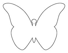 Flying butterfly pattern. Use the printable outline for crafts, creating stencils, scrapbooking, and more. Free PDF template to download and print at http://patternuniverse.com/download/flying-butterfly-pattern/