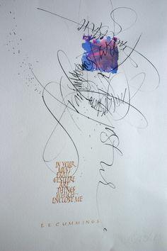 calligraphic art by roann mathias