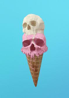 Pastel | Pastello | 淡色の | пастельный | Color | Texture | Pattern | Composition | Ice cream skulls