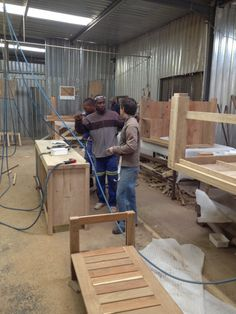 23. Tables and frames are assembled by experienced workers. Each is done according to CAD design instructions. Solid wood furniture is quite a weight, and we often wonder what mass each of these guys handles on a daily basis.