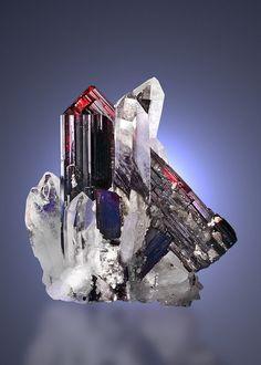 Hübnerite on Quartz - Huayllapon Mine, Pasto Bueno, Pampas District, Pallasca Province, Ancash Department, Peru Size: 51 x 46 x 35 mm