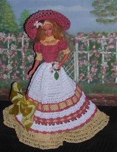 Crochet Fashion Doll Barbie Pattern 104 by JudysDollPatterns